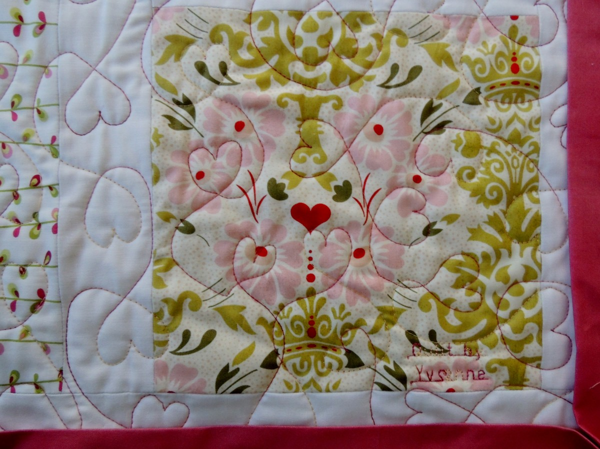 Genevieve's Baby Quilt - Quilting Detail