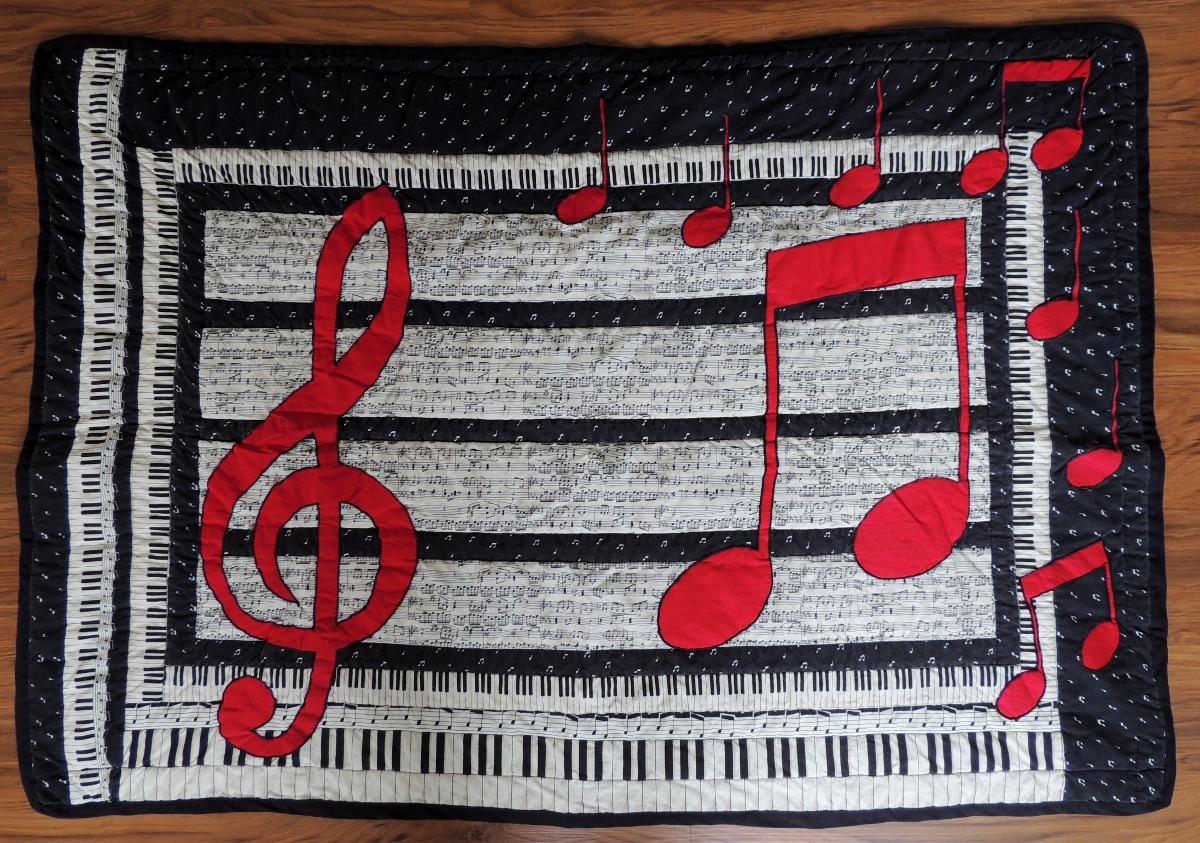 Music Lap Quilt - Front