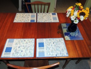 The Placemats Make a Lovely Table Setting