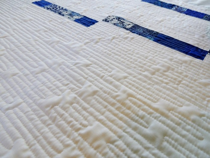 Blue Spring Rain - Quilting Detail
