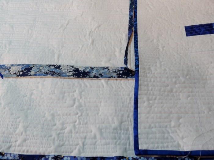 Blue Spring Rain - Whipstitching
