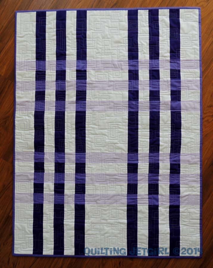 Color Weaving I - Completed Quilt Top