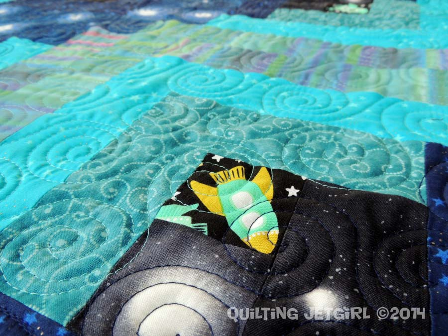 Solar System - Quilting Detail