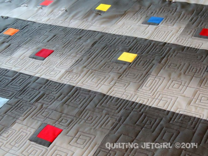 Synesthetic Alphabet - Quilting Detail (Front)