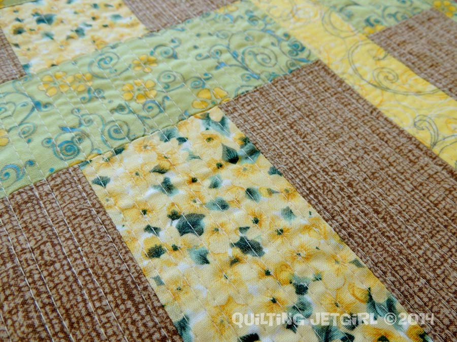 Woven Placemats - Quilting Detail
