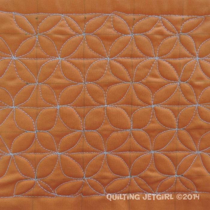 Grid Work - Orange Peel