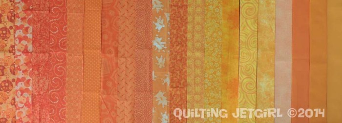 "Orange Crush - 2"" x 18"" Fat Quarter Strips"