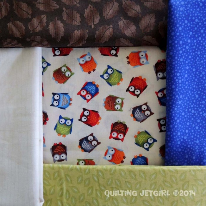 Owl City Baby Quilt - Fabric Pull