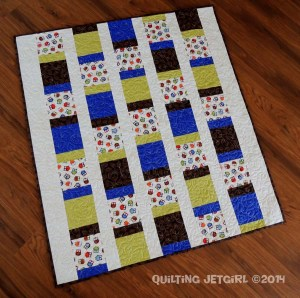 Owl City Baby Quilt - Completed Quilt Top