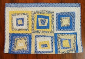 Simple Drawstring Bag - Quilt Roll Step 1