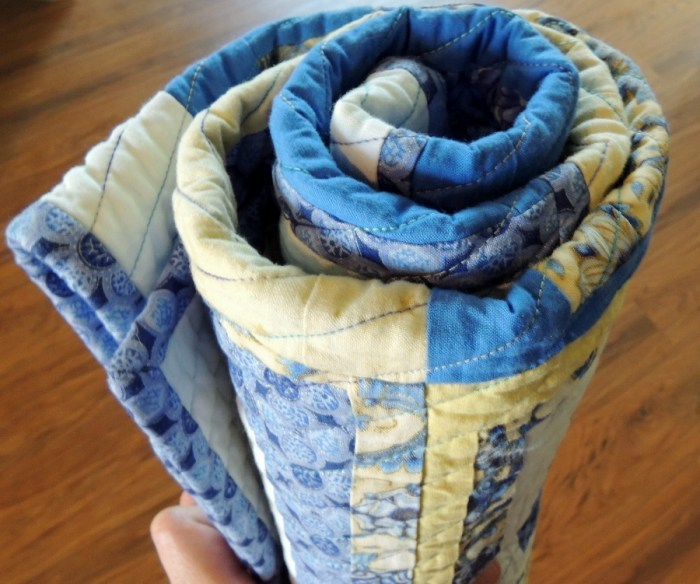 Simple Drawstring Bag - Quilt Roll Step 3