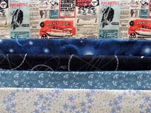 Space Age Tumbling Blocks - Fabric