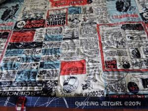 Space Age Tumbling Blocks - Whip-stitching Binding