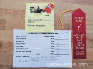 Shooting Star Mini Quilt - Scorecard and Ribbon