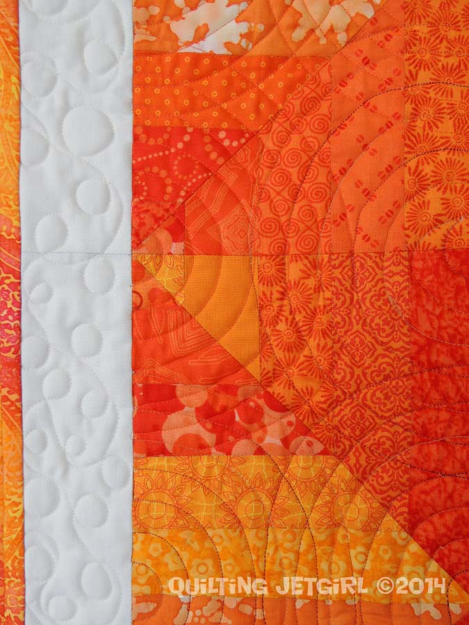 Orange Crush {Quilting Detail}