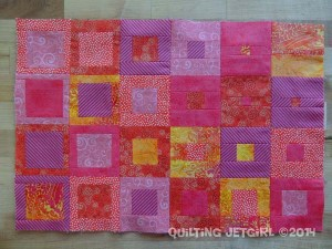 Fiestaware Placemats - Coral Pieced Front