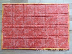Fiestaware Placemats - Coral Back