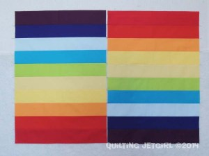 Cocoa Leaf Mini Quilt Rainbow Stripes