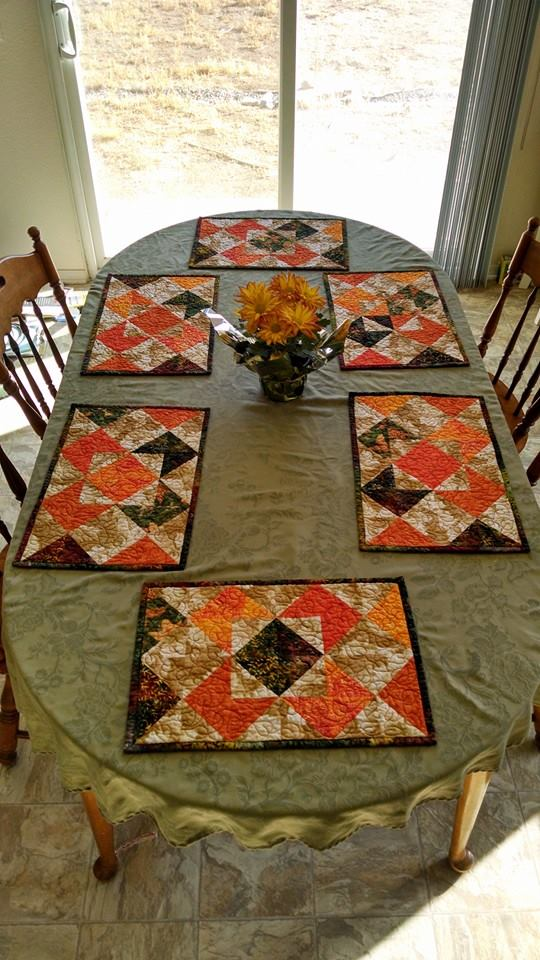 Fall Placemats In Use