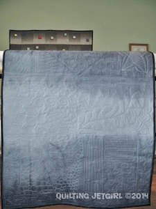 Whole Cloth Grayscale Test Quilt