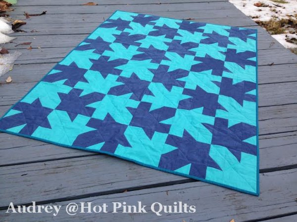 Tessellated Leaves by Audrey @Hot Pink Quilts