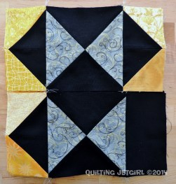Foothills Mystery Quilt - Whole (top) and Half (bottom) Hourglass Blocks