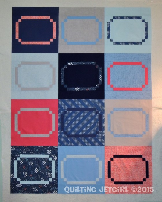 Racetrack Quilt - Flimsy Finish