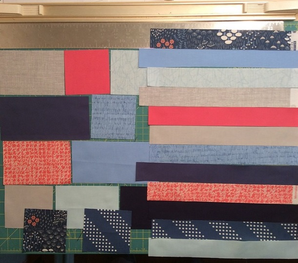 Racetrack Quilt - Fabric Scraps