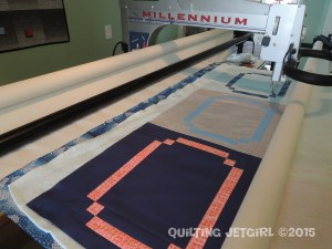 Racetrack Quilt - Loaded and Ready to Quilt!