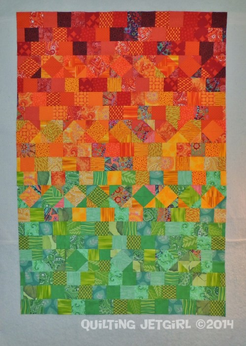 Scrap Quilt Flimsy Finish