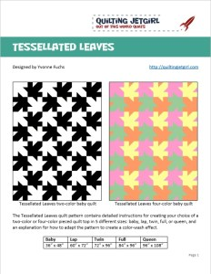 Tessellated Leaves Quilt Pattern