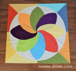 Cocoa Leaf Medallion Quilt Center