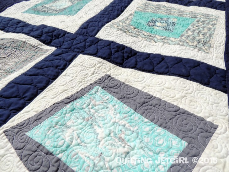 Collaborative Baby Quilt - Quilting Detail