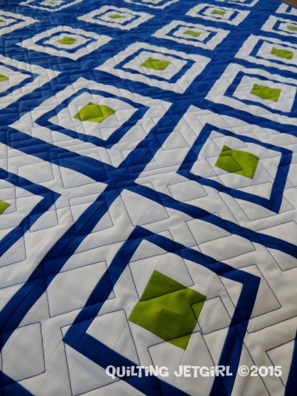 Diamonds in the Deep - Quilting Detail