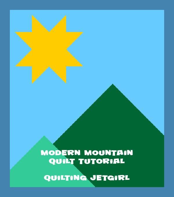 Modern Mountain Quilt Tutorial