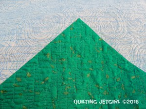 Out of the Woods - Forest Quilting Detail