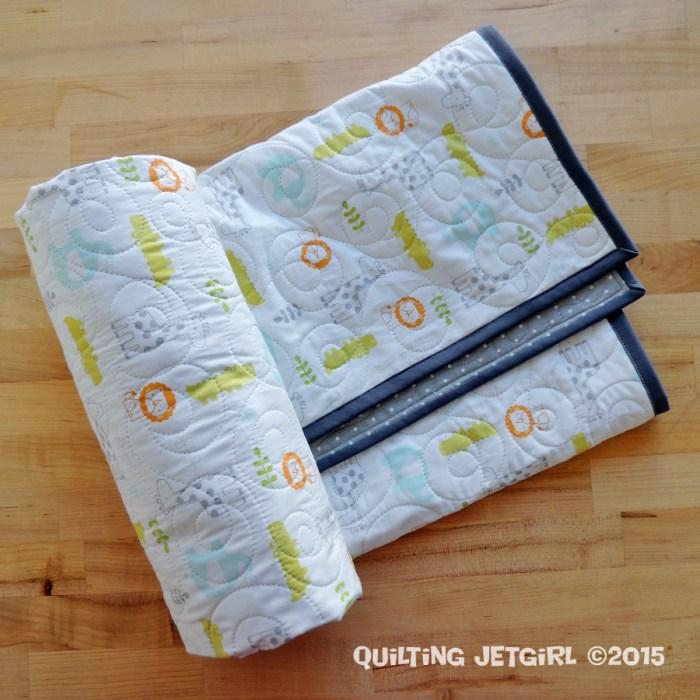 Baby Sheet Quilt - Snoozin Safari and Grey Dot