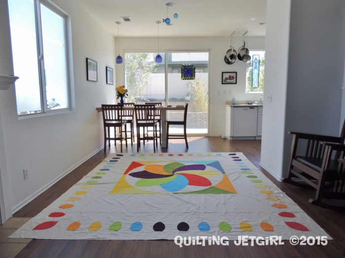 Cocoa Leaf Medallion Quilt Top