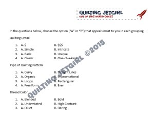 Quilting Questions