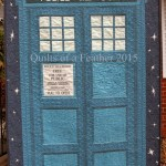 A fancy TARDIS quilt!