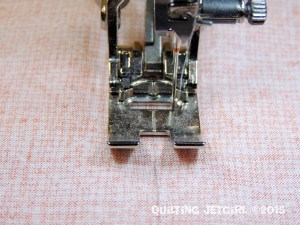 Seam Allowance Tip - Move Needle All the Way to the Right