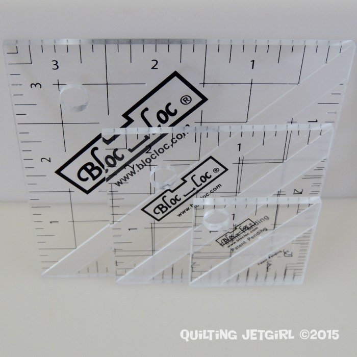 Quilt Thankful Thursday - 3.5-inch, 2.5-inch, and 1.5-inch Bloc Loc Rulers