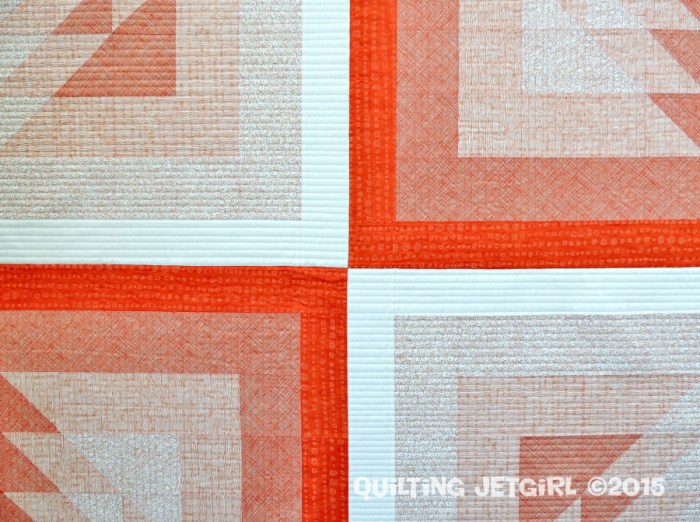 Triangle Transparency (Orange) - Quilting Detail