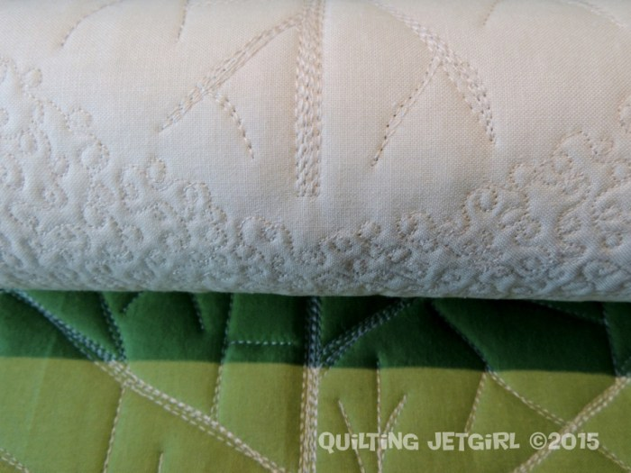 Cocoa Leaf Medallion: Quilting Detail