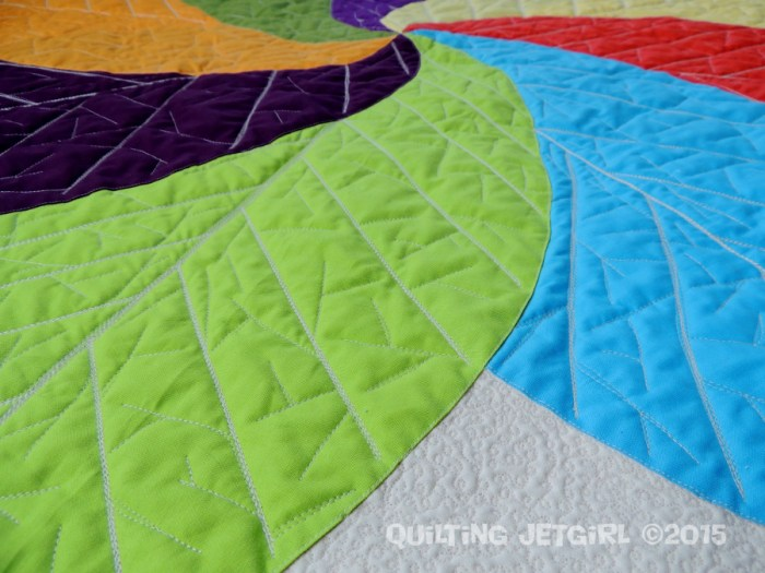 Cocoa Leaf Medallion - Quilting Detail