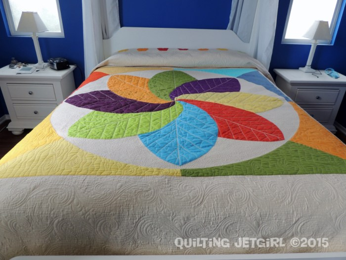 Cocoa Leaf Medallion - Fit Check on My Queen Bed