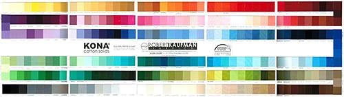 Robert Kaufman Kona Color Card