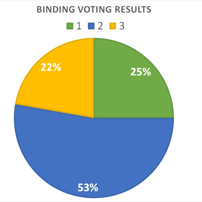 Binding Voting Results