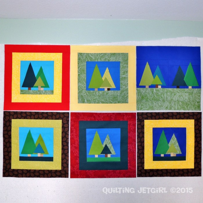 Myer Quilt - Tree Blocks