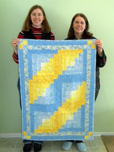 Yvonne, Mom, & Quilt